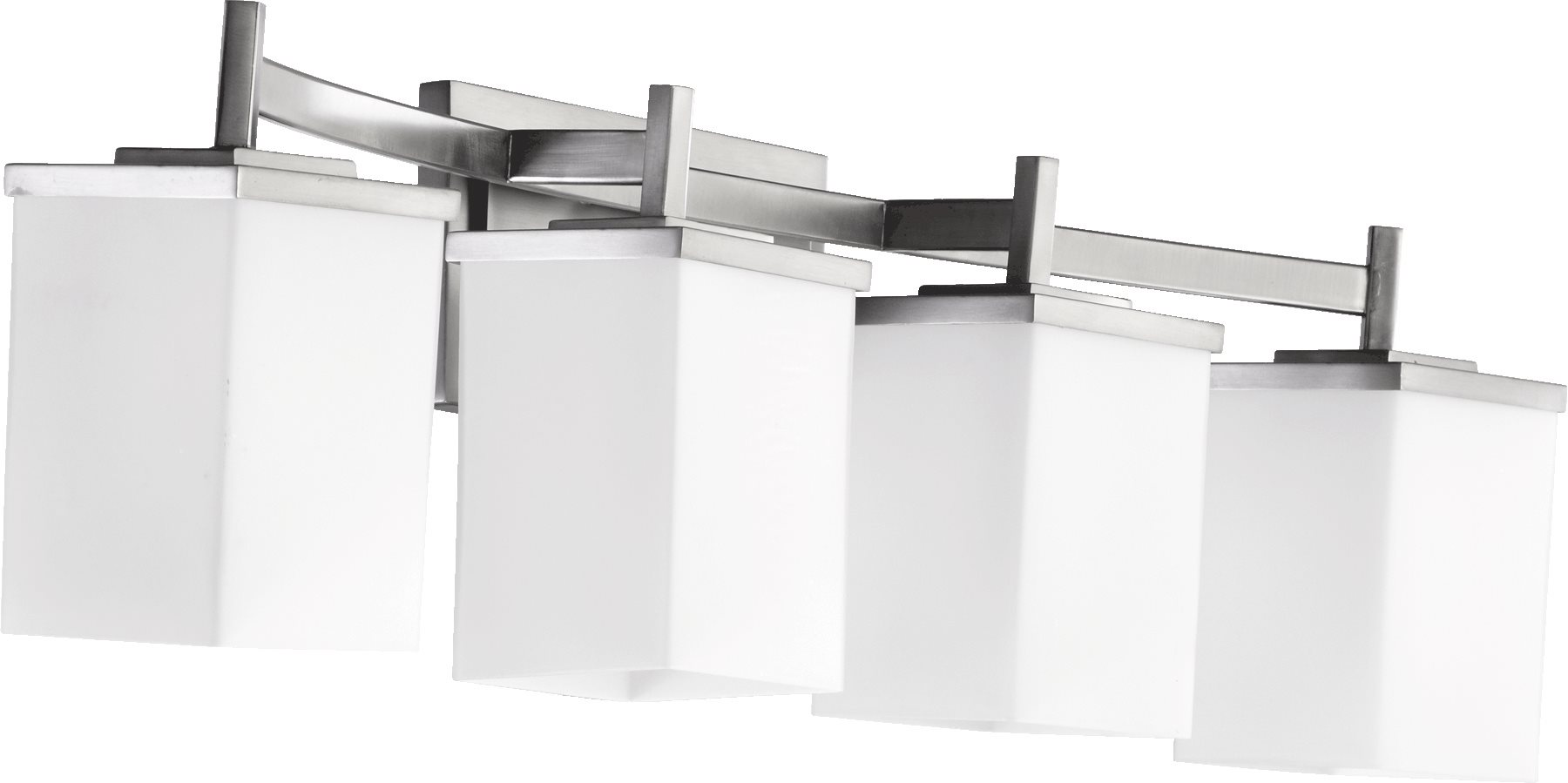 Delta Bathroom Vanity Lights : Quorum Lighting 5084-4-65 Delta Modern / Contemporary Bathroom / Vanity Light QR-5084-4-65