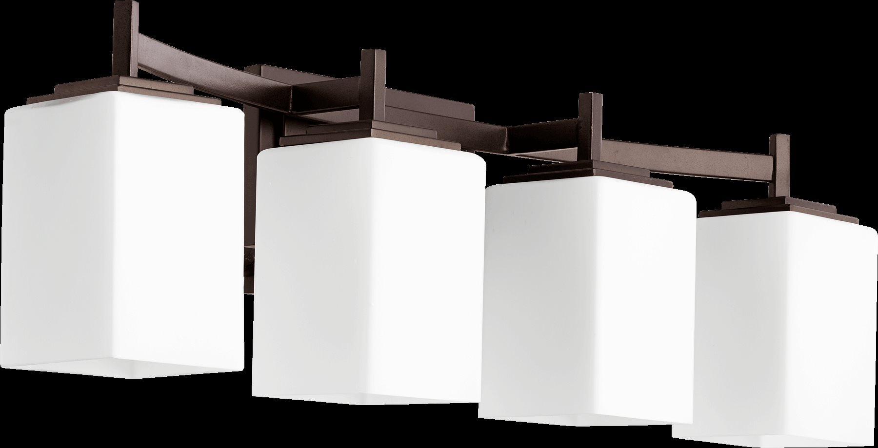 Delta Bathroom Vanity Lights : Quorum Lighting 5084-4-86 Delta Modern / Contemporary Bathroom / Vanity Light QR-5084-4-86