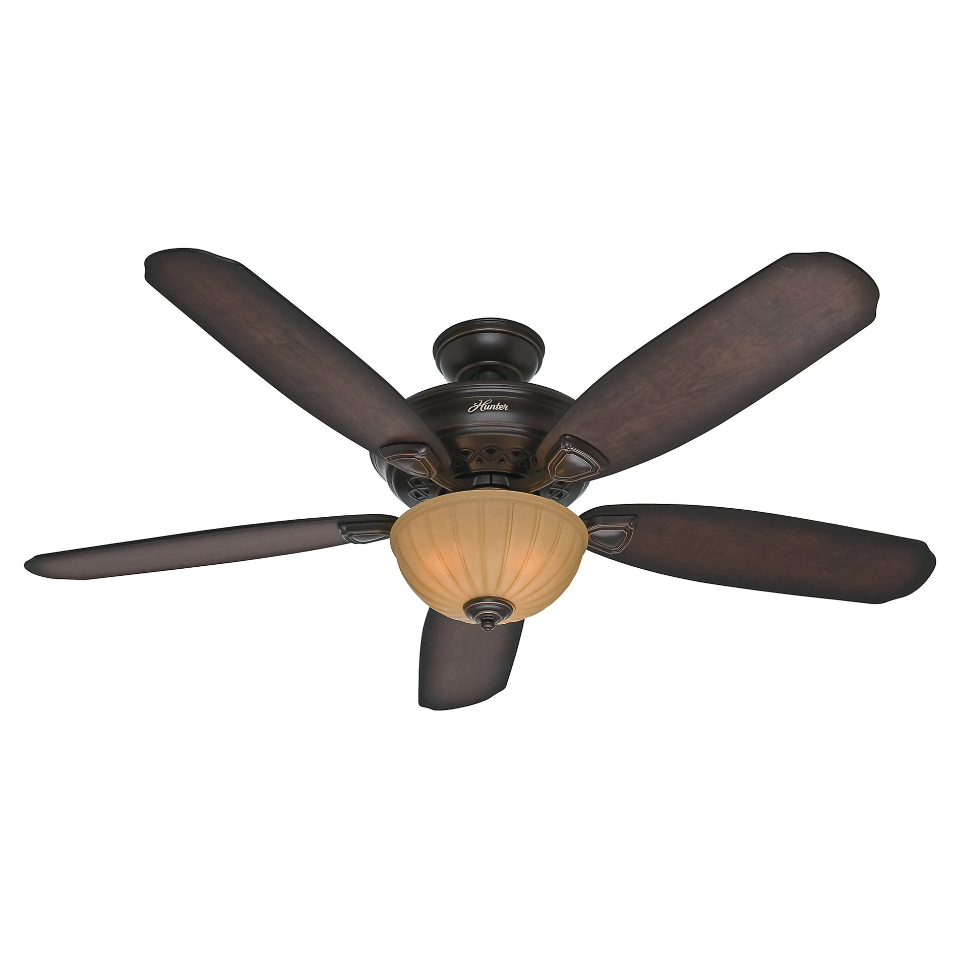 Hunter large room ceiling fan with light ebay for Ceiling fan size for room