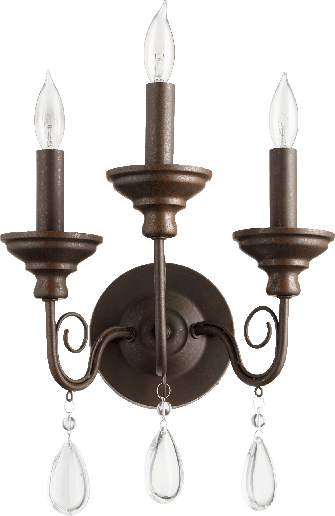 Quorum Lighting 5501-3-86 Vesta Traditional Wall Sconce QR-5501-3-86