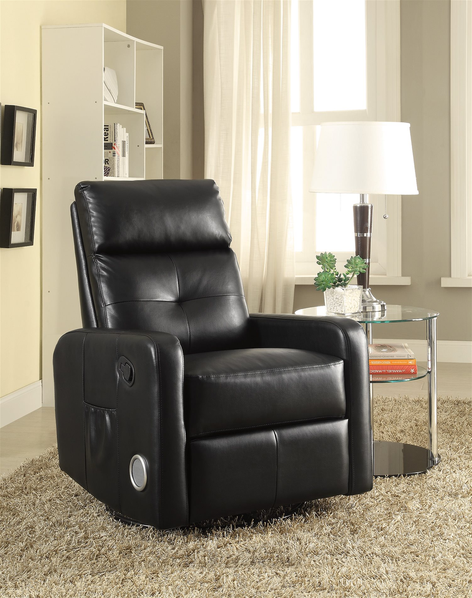 Coaster Home 600054 Swivel Glider Recliner With Built In