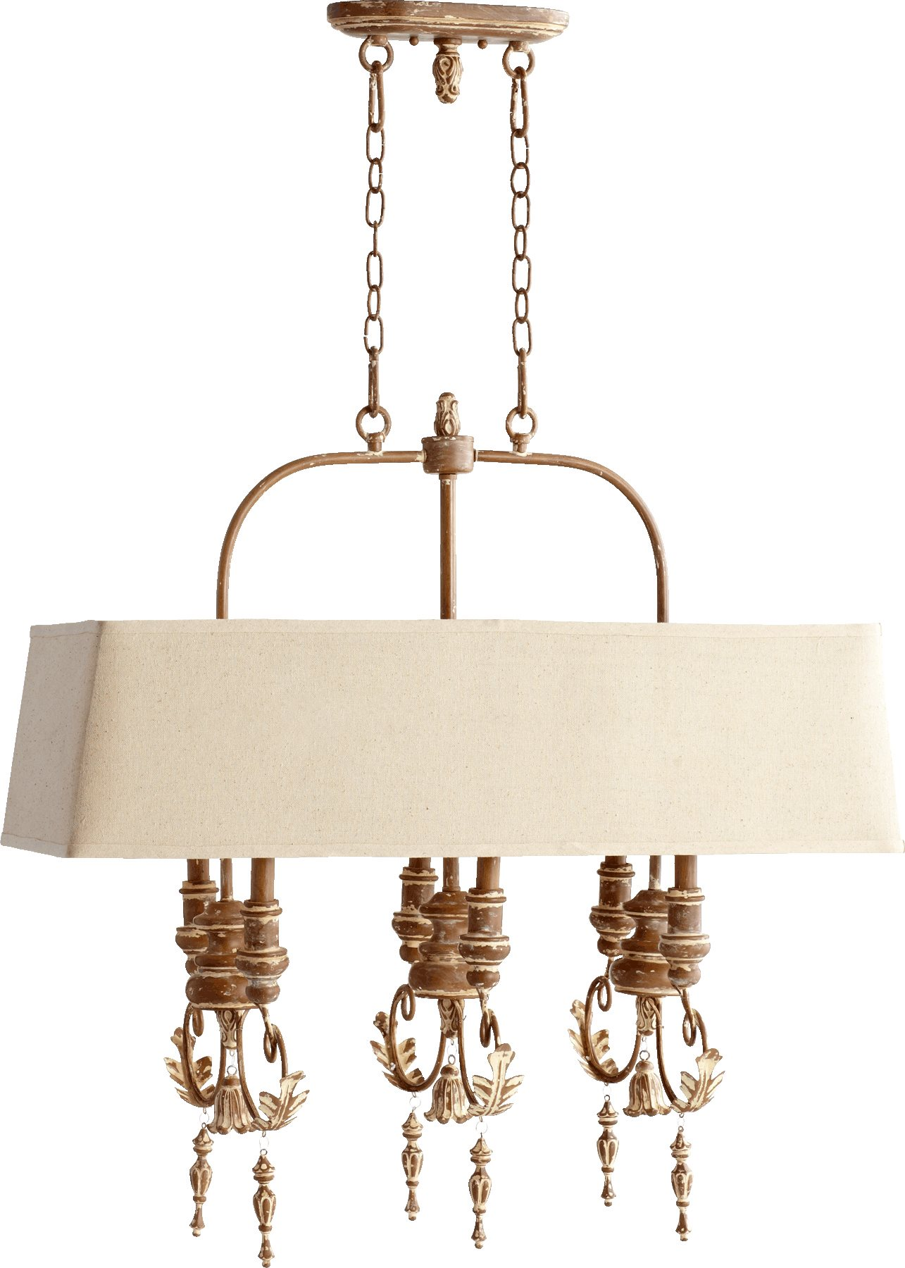Quorum lighting 6506 6 94 salento traditional kitchen for Traditional kitchen pendant lights