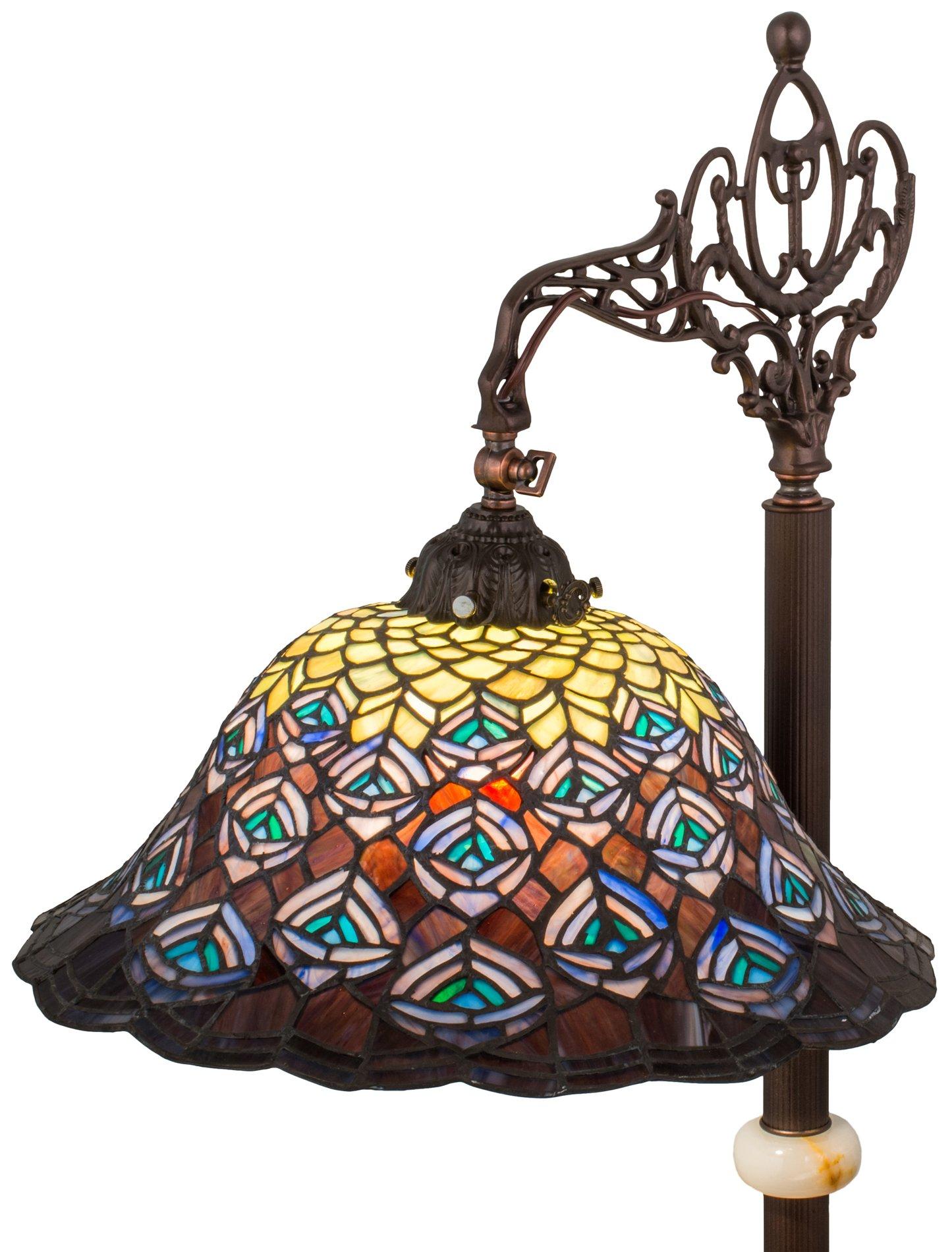 meyda tiffany 65840 peacock feathers downbridge tiffany floor lamp md. Black Bedroom Furniture Sets. Home Design Ideas