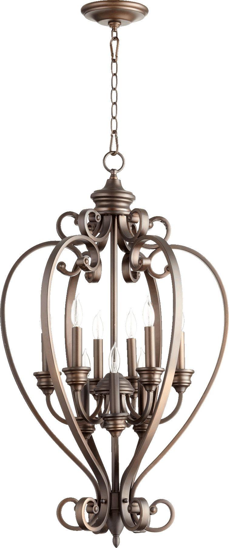 Traditional Foyer Lighting : Quorum lighting  bryant traditional foyer light