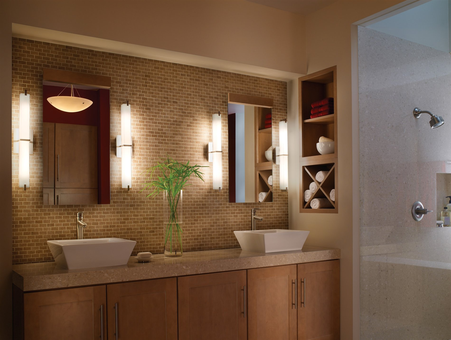Bathroom Wall Vanity Lights : Tech Lighting 700BCMET Metro Modern / Contemporary Bathroom / Vanity Light 700BCMET