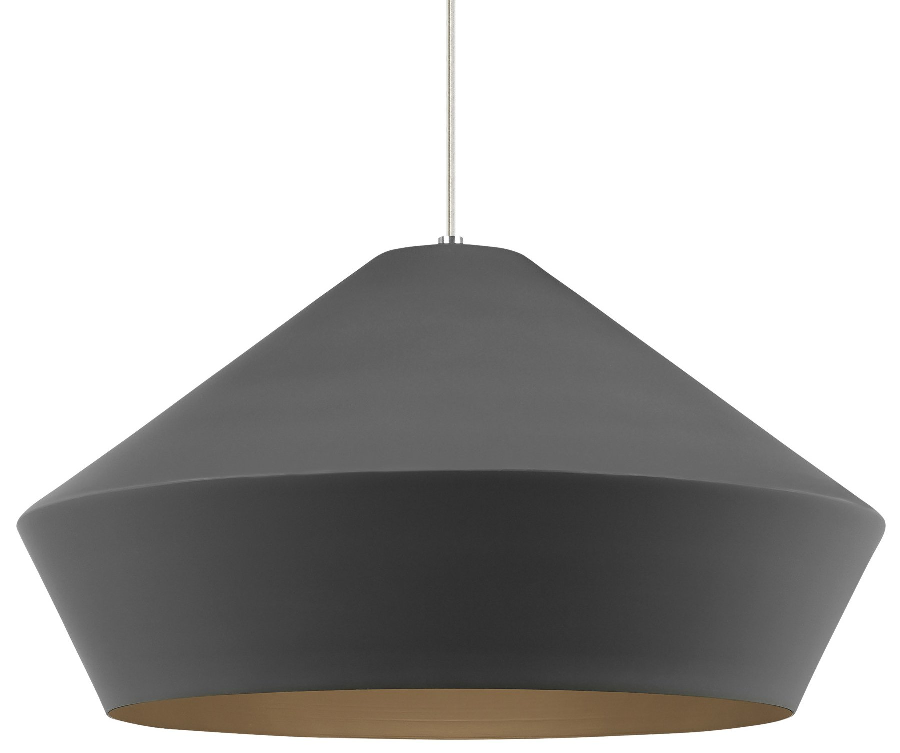 Y Charcoal Gray  sc 1 st  Arcadian Home & Tech Lighting 700TDBMLGP Brummel Grande Transitional Pendant Light ... azcodes.com