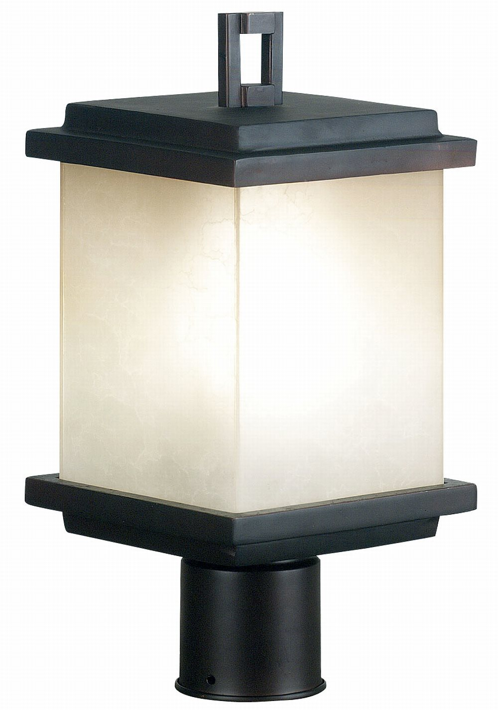 Kenroy 70214orb plateau contemporary post lantern kr 70214 orb for Contemporary outdoor post light fixtures