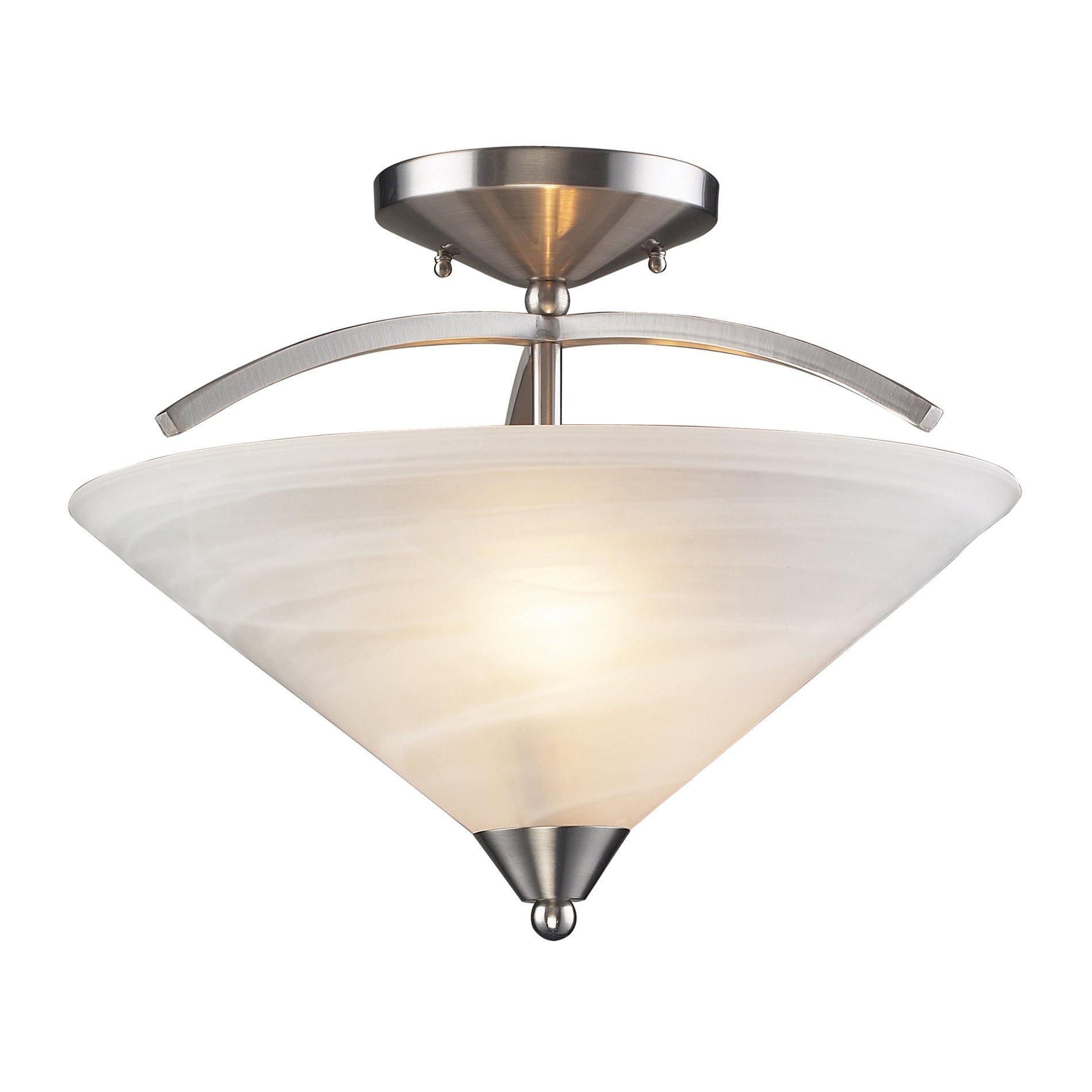 elk lighting 7633 2 elysburg contemporary semi flush mount