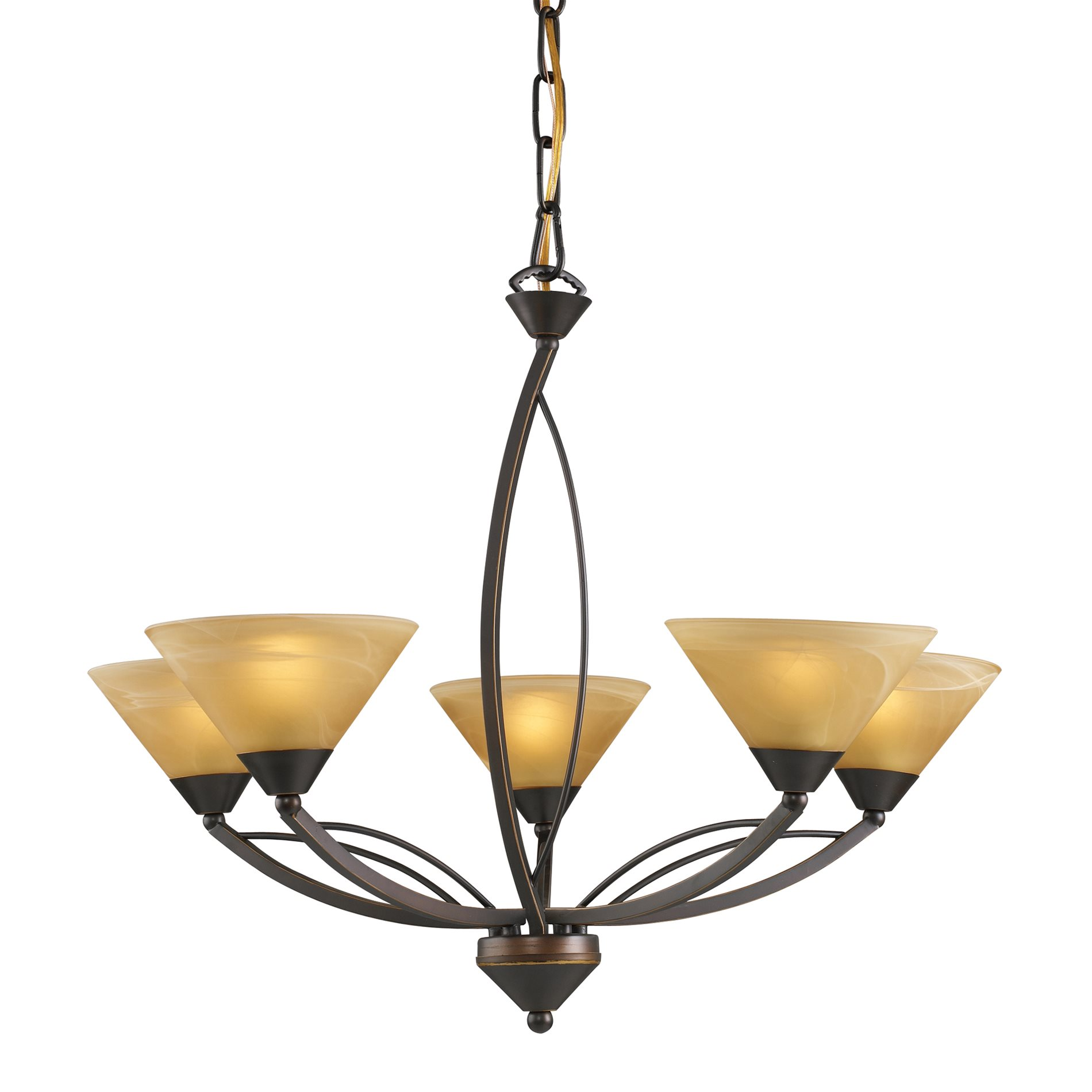 Elk Lighting Fans: Elk Lighting 7647/5 Elysburg Transitional Chandelier ELK