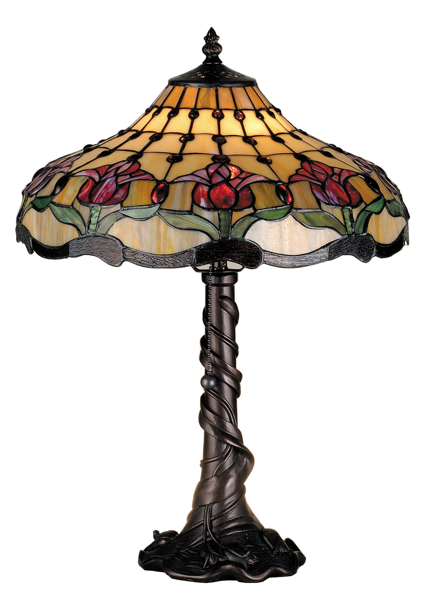 Colonial Table Lamps : Meyda tiffany colonial tulip table lamp md