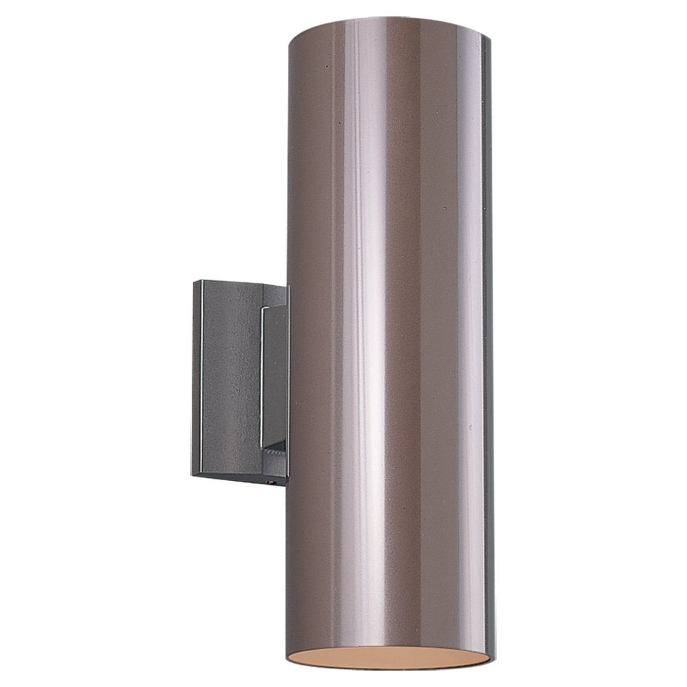 Wall Sconce Light With Outlet : Sea Gull Lighting 8340 Bronze Contemporary Outdoor Cylinder Wall Sconce SG-8340