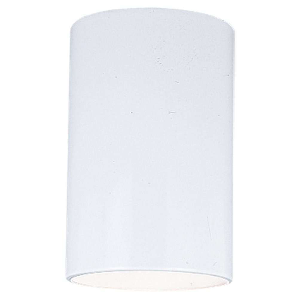 Sea Gull Lighting 8438 15 White Contemporary Outdoor Cylinder Flush Mount Cei