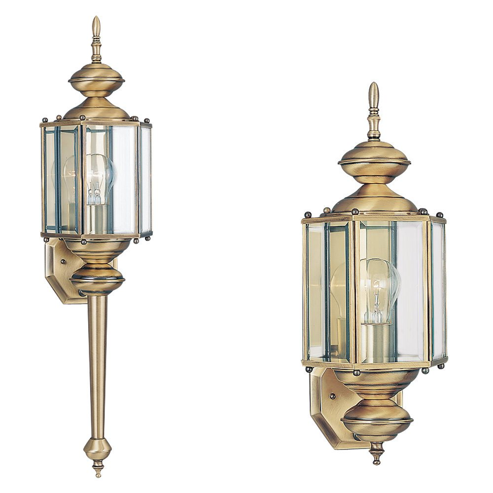 Sea gull lighting 8510 classico transitional outdoor wall for Outdoor sconce lighting fixtures