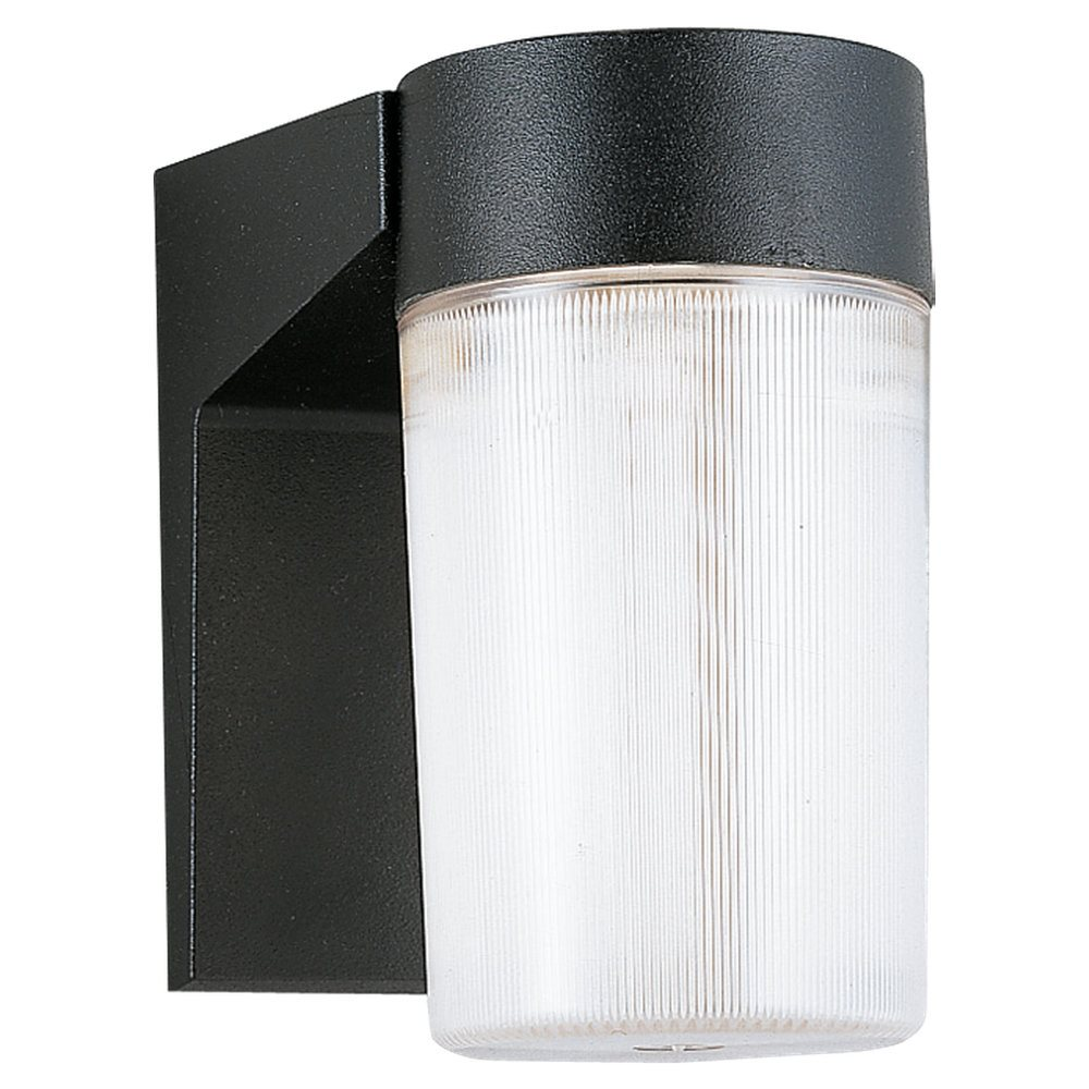 Sea Gull Lighting 8907 12 Black Powder Contemporary Outdoor Wall Sconce SG 89