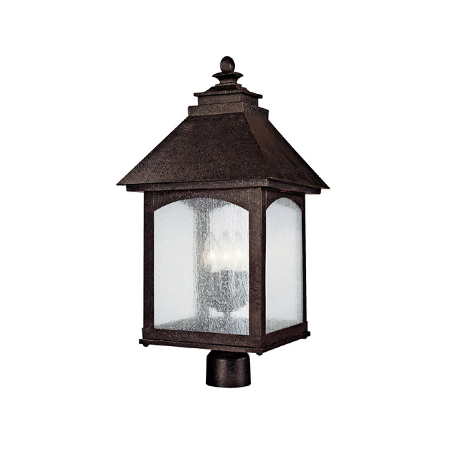 Capital lighting 9056ri lodge traditional outdoor post for Outside pole light fixtures