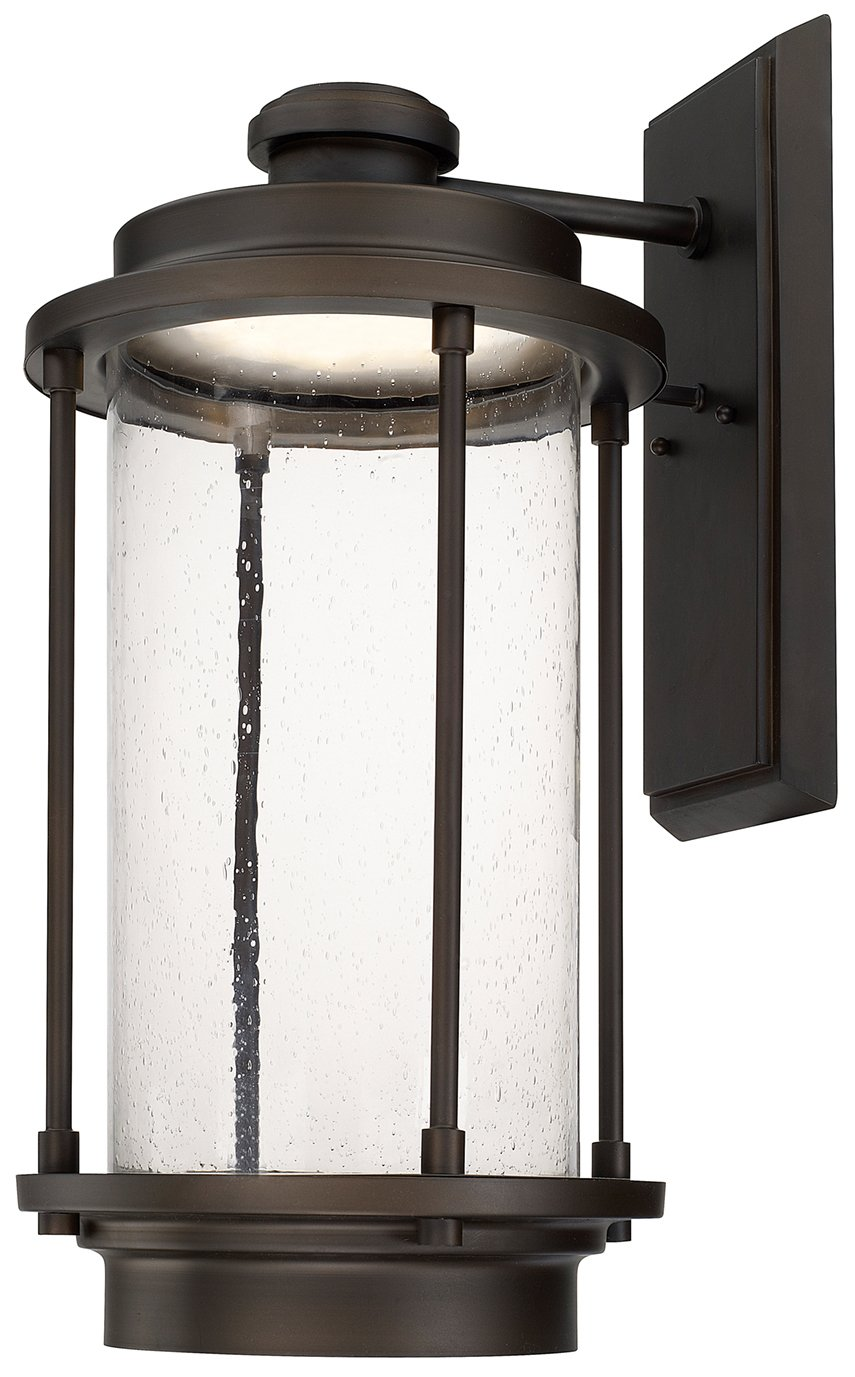 Transitional Outdoor Wall Lights : Capital Lighting 918141OB-LD Grant Park LED Transitional Outdoor Wall Sconce CP-918141OB-LD