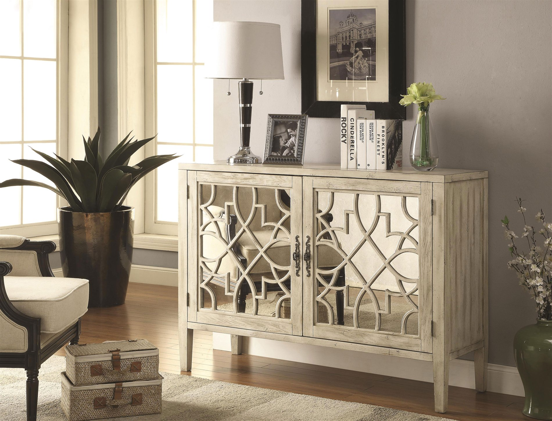 Superbe Coaster Home Antique White Accent Cabinet   COAH 950321 See Details.