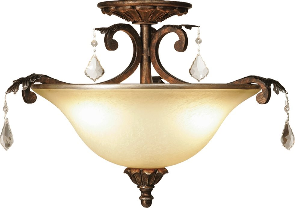 artcraft lighting ac1832 florence traditional semi flush