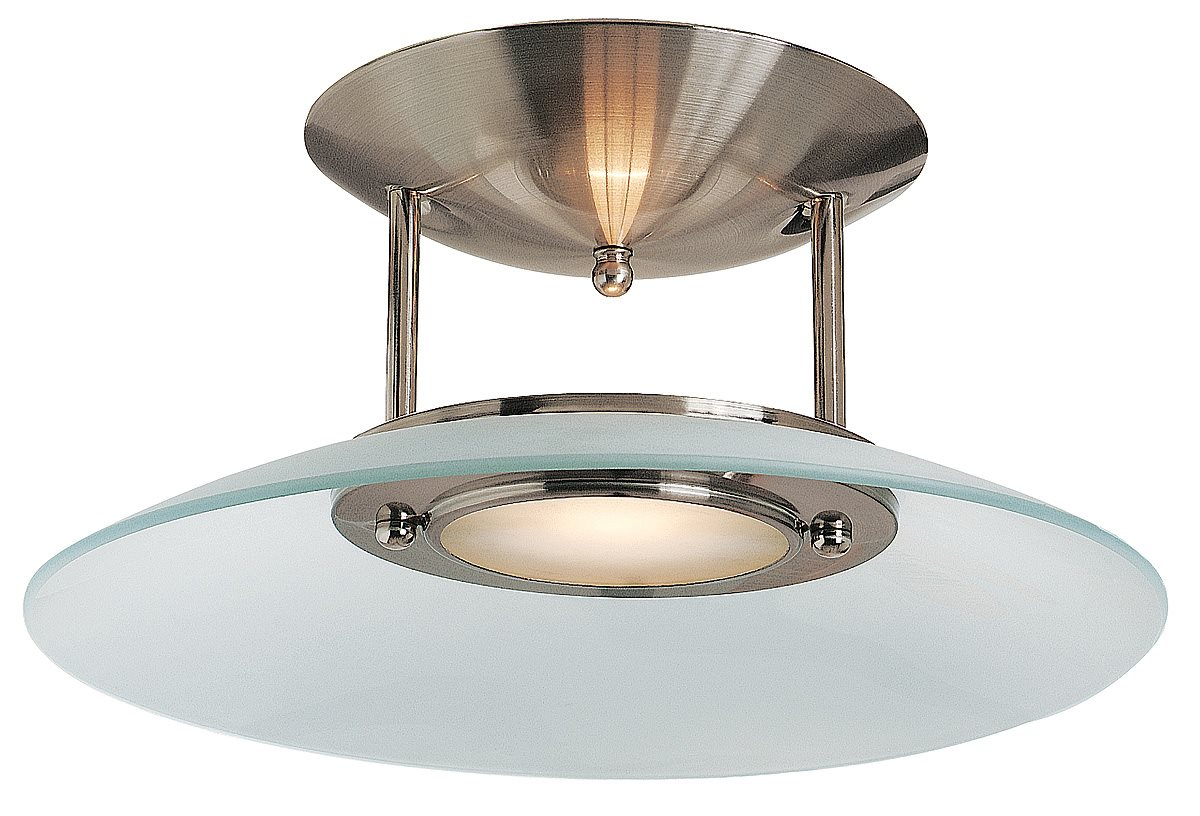 access lighting 50451 bs fst argon contemporary semi flush mount ceiling light ac 50451 bs fst