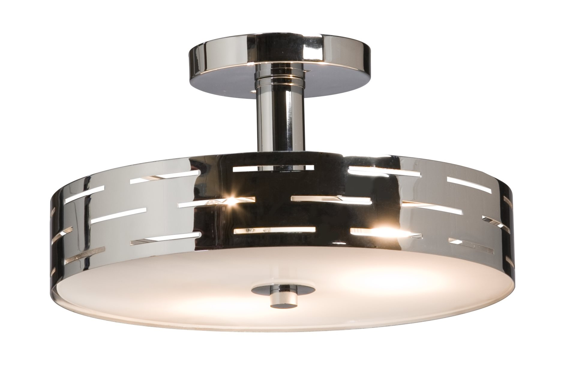 Leeds contemporary semi flush mount ceiling light xtra for Semi flush mount lighting modern