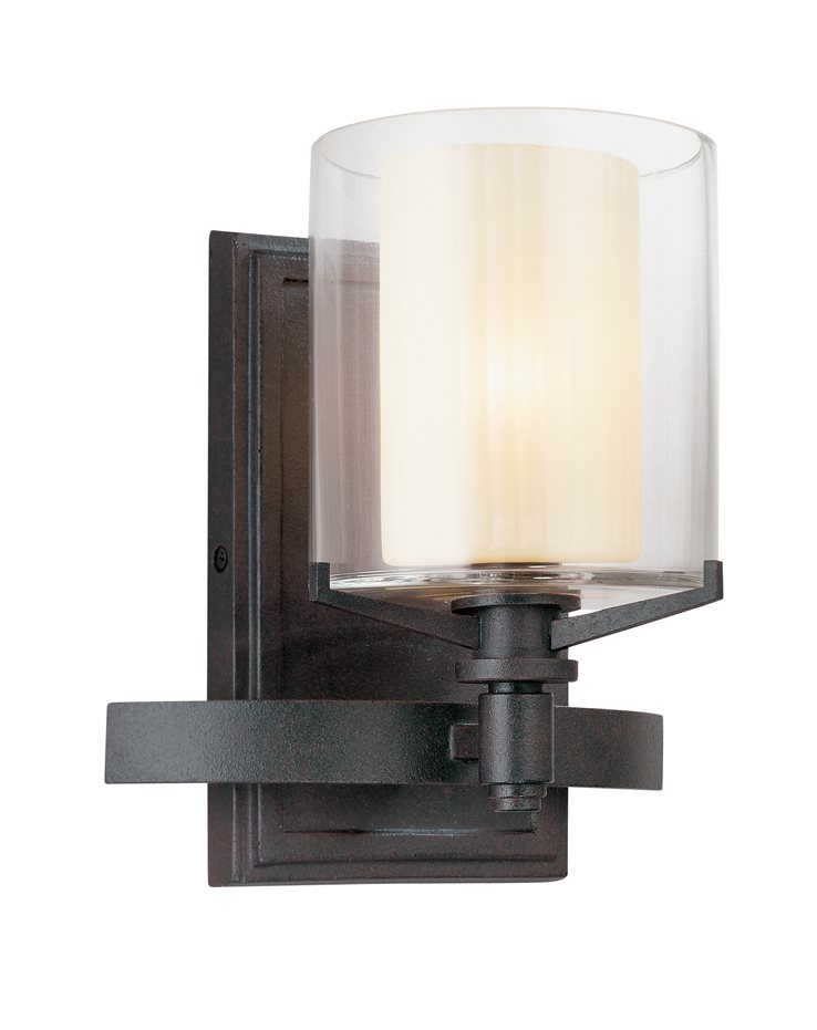 Troy lighting b1711fr arcadia transitional wall sconce tl b 1711 fr for Transitional bathroom lighting