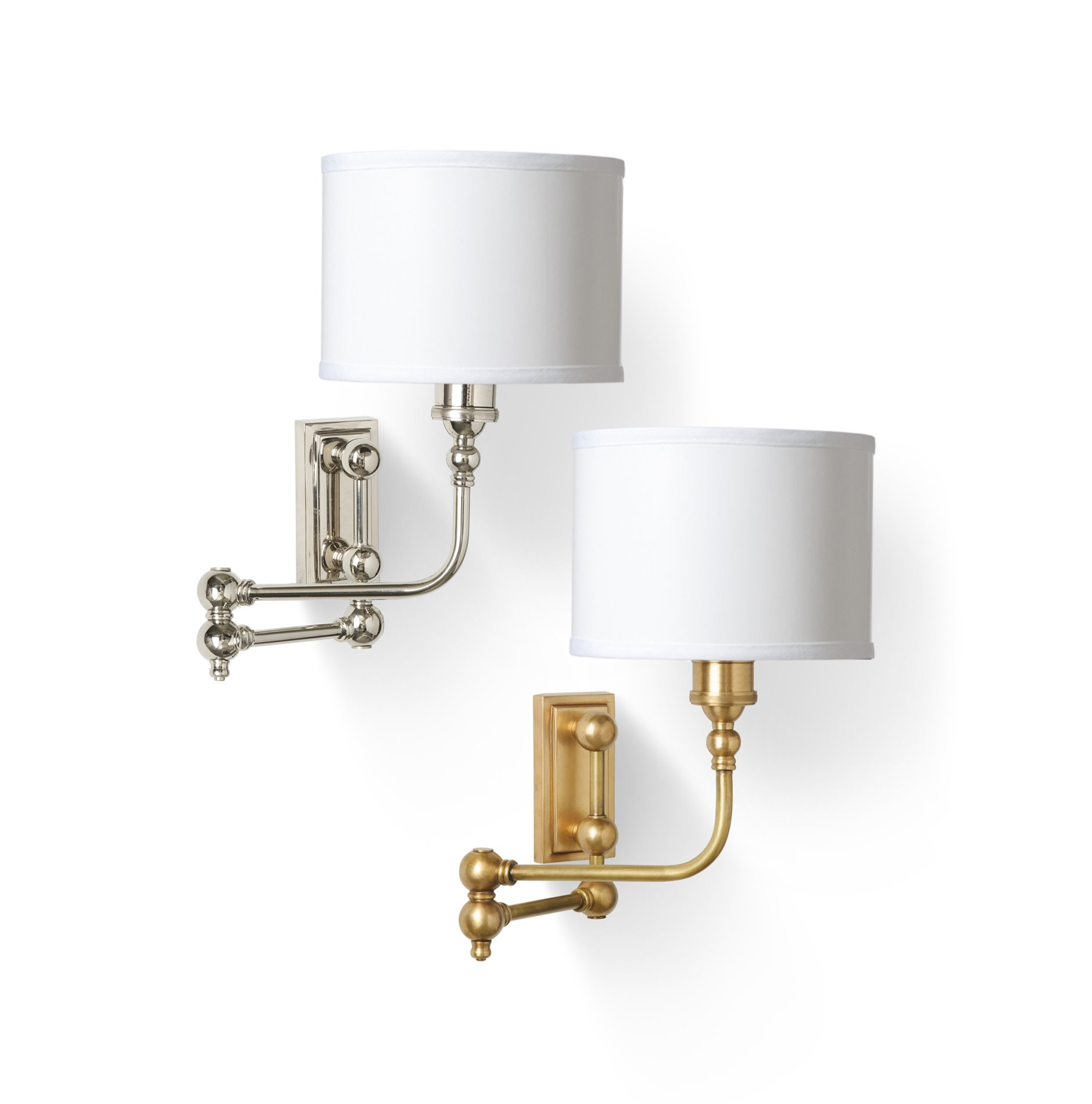 Wall Sconces Swing Arm : Barbara Cosgrove BC909 Swing Arm Wall Sconce in Antique Brass Finish BCG-BC909