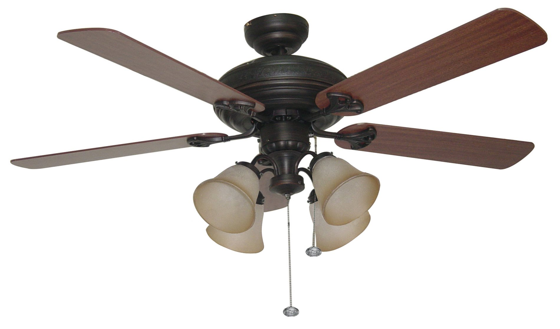 "Ellington BFT52ABZ5C Beaufort 52"" Traditional Ceiling Fan CM"