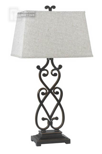 Cal Lighting Bo 960 Wrought Iron Traditional Scroll Table