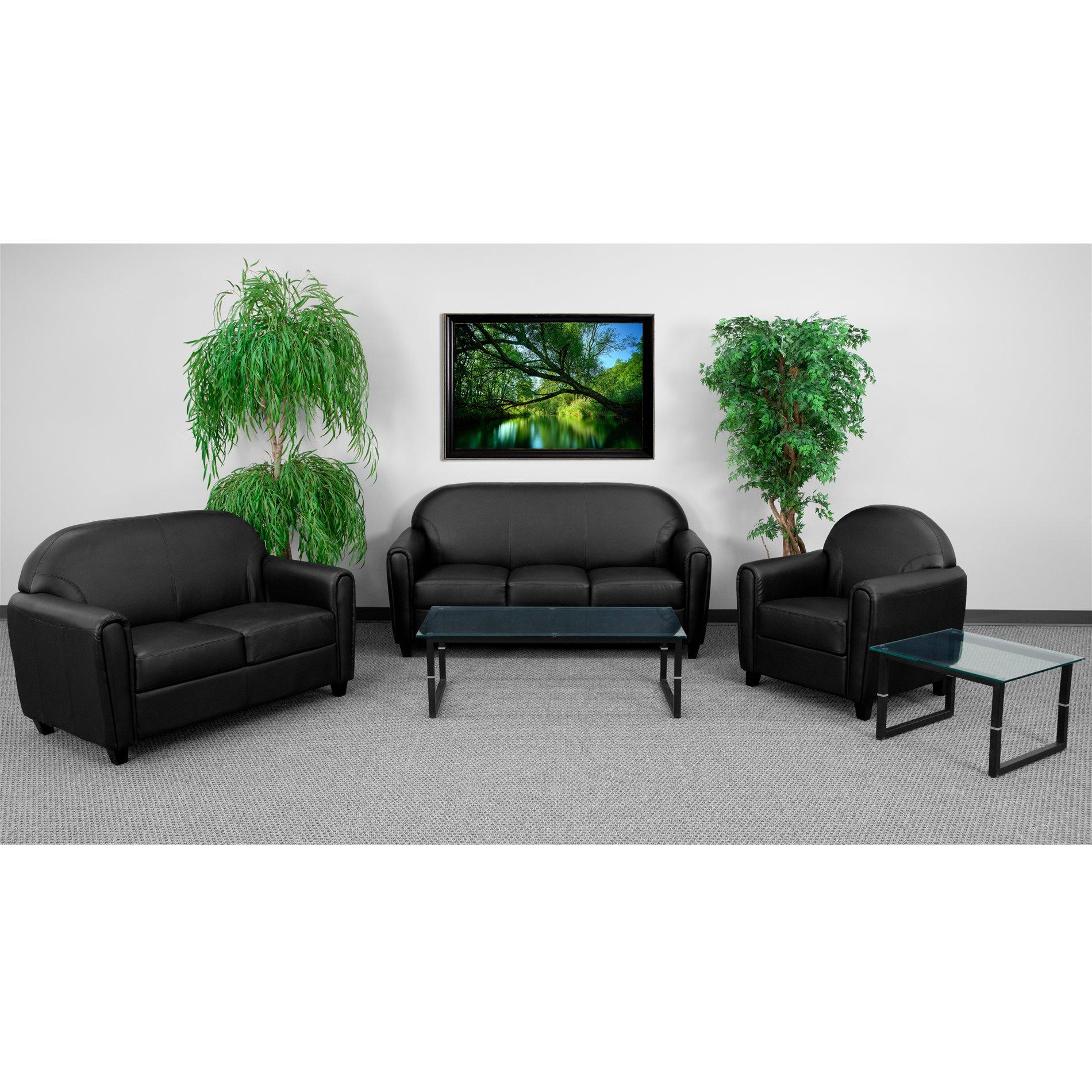 Flash Furniture Bt 828 3 Bk Gg Sofa Ff Bt 828 3 Bk Gg