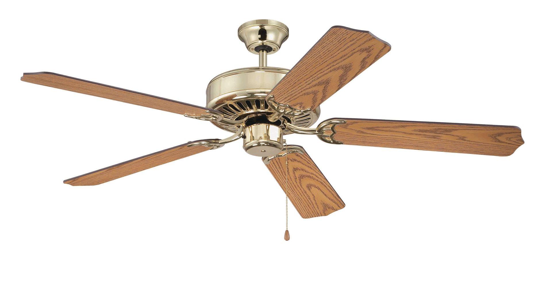 Decorative Ceiling Fans : Craftmade c pb quot decorative ceiling fan cm