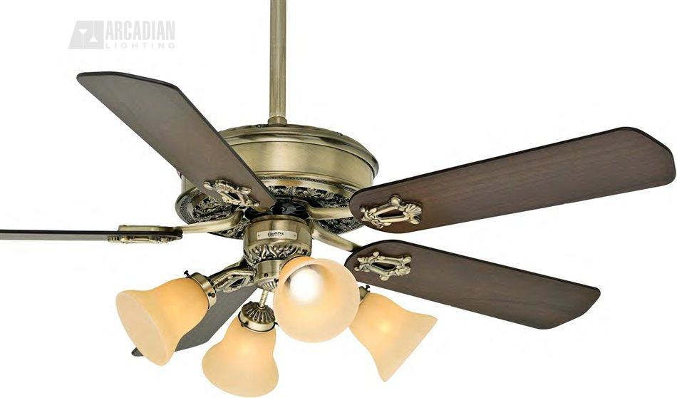 Casablanca fans 63 46 or 54 victorian transitional ceiling fan casa 63xxz - Victorian ceiling fans with lights ...