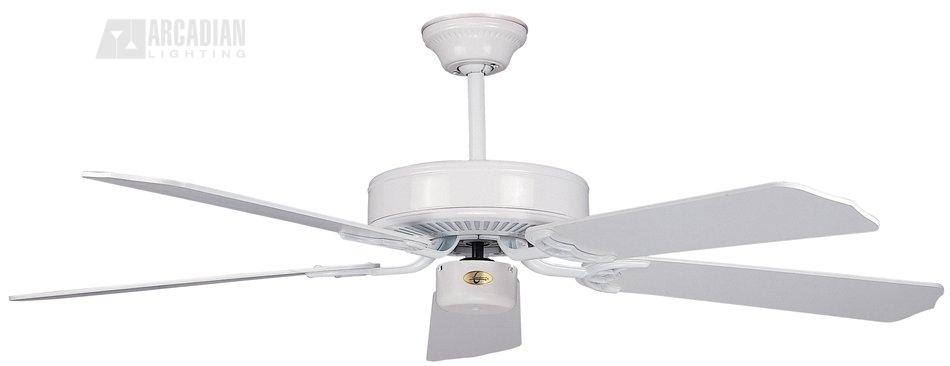 """Concord Fans California Home 52"""" White Ceiling Fan"""