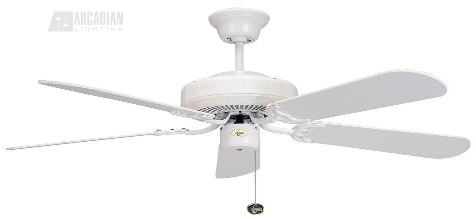 Concord fans 52dco5w decorama 52 traditional ceiling fan cc 52dco5w wh white with white blades aloadofball Image collections