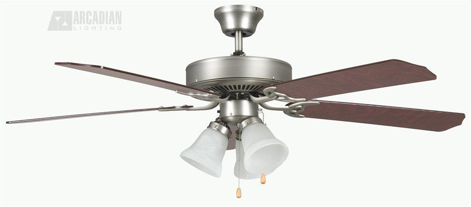 Concord fans 52heh5e heritage home 52 traditional ceiling fan cc sn satin nickel with rosewoodsilver oak blades aloadofball Choice Image