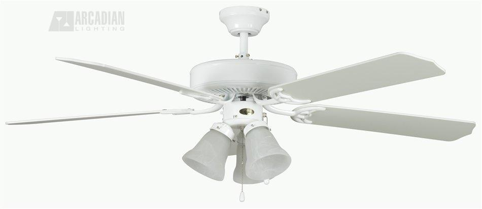 Heritage Hugger Ceiling Fan 1 Wh White With Blades