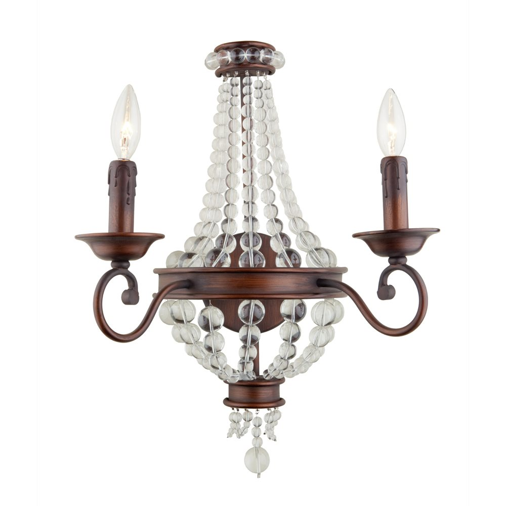 Traditional Wall Sconce With Switch : Artcraft Lighting CL1361 Cobochon Traditional Wall Sconce ART-CL1361