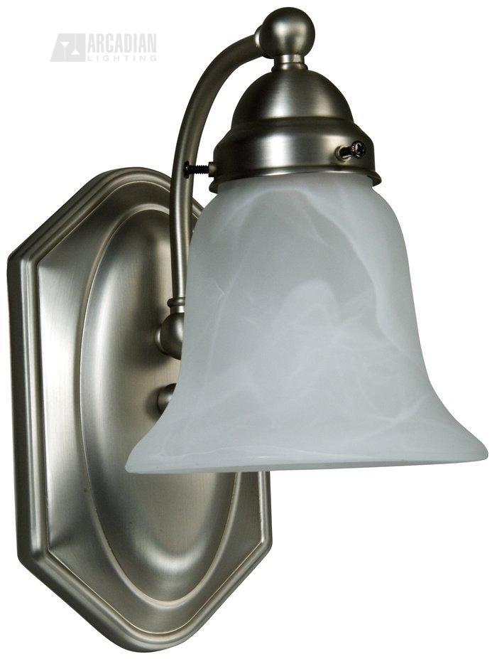 Wall Sconce Lamp Kit : Craftmade 16108-KIT Athena Bath Arm 161 Kit Series Wall Sconce CM-16108-KIT