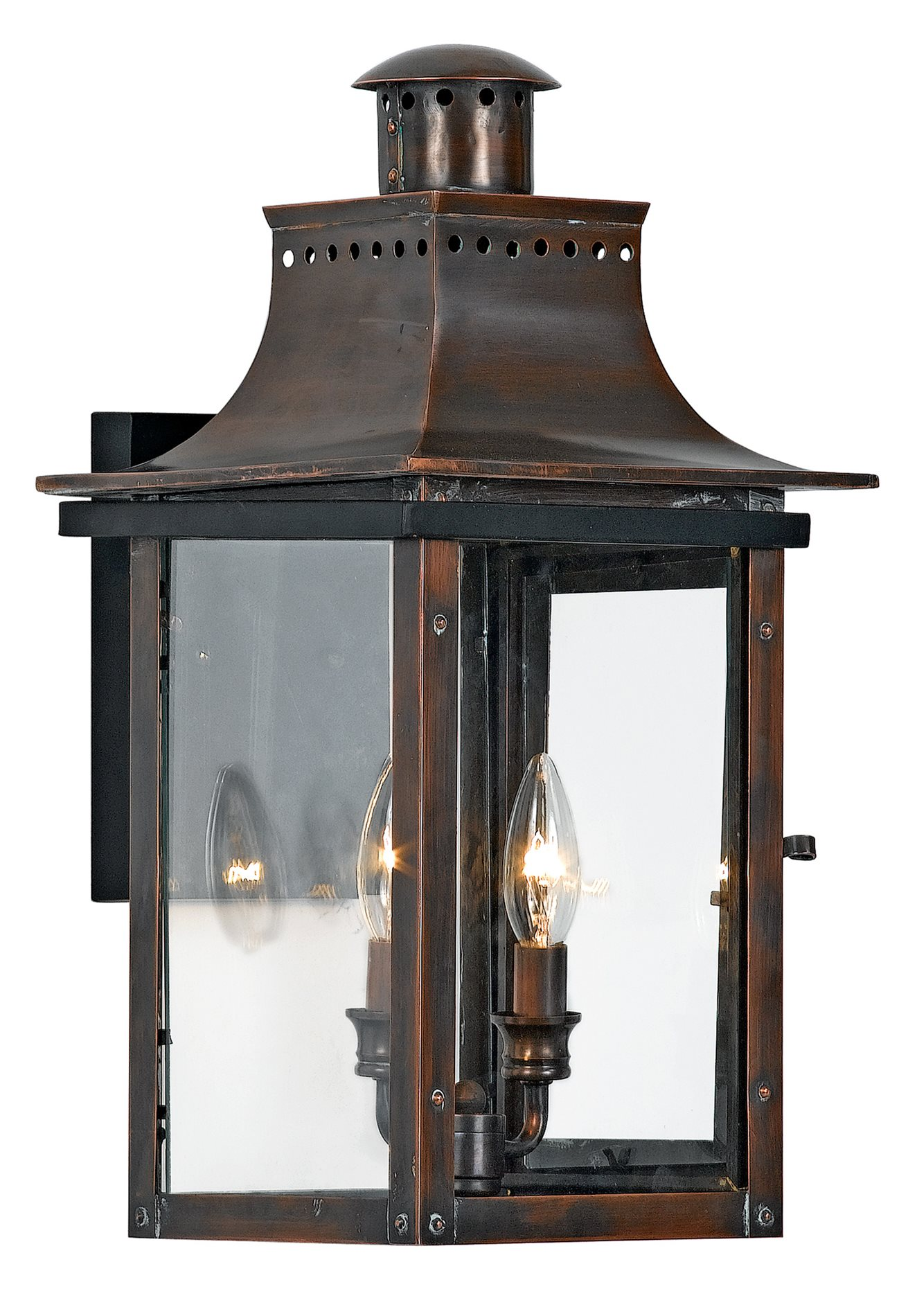Quoizel cm8410ac chalmers traditional outdoor wall sconce qz cm8410ac for Exterior light sconce
