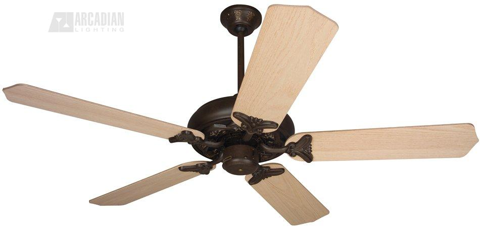 Craftmade bc52 barcelona 52 traditional ceiling fan cm bc52 aged bronze motor finish with 52 custom wood unfinished oak blades aloadofball