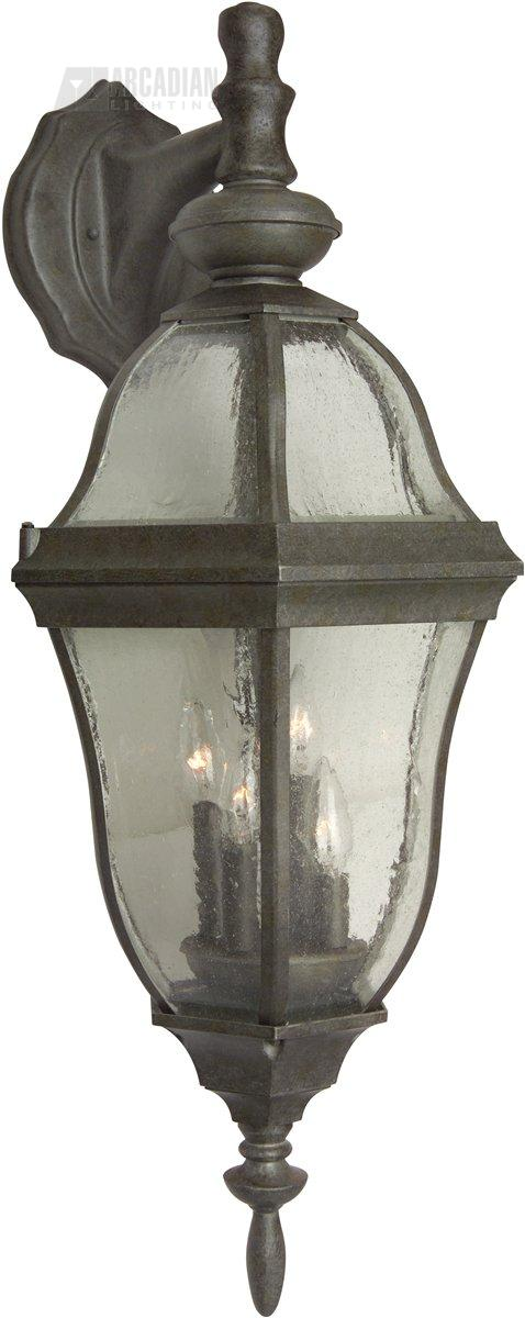 Wall Sconces With Seeded Glass : Craftmade Z464-45 Top Glass Seeded Outdoor Wall Sconce CM-Z464-45
