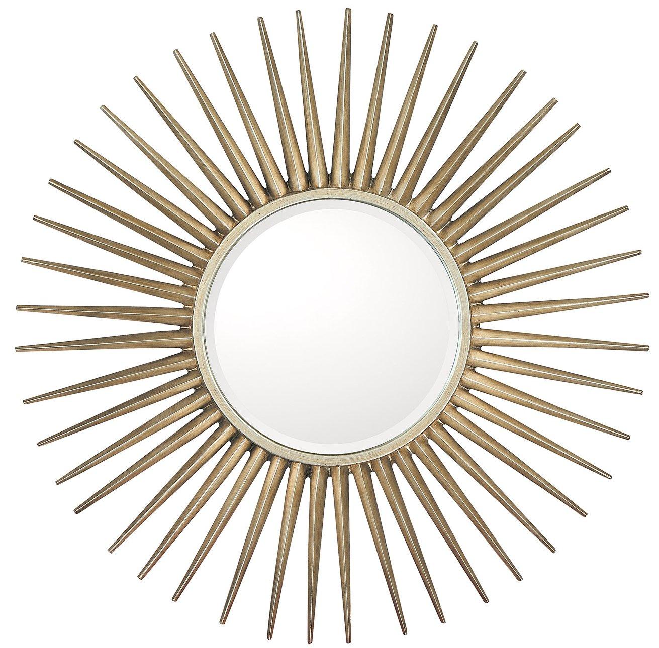 Melanthios contemporary round wall mirror xpc 874343m for Contemporary wall mirrors