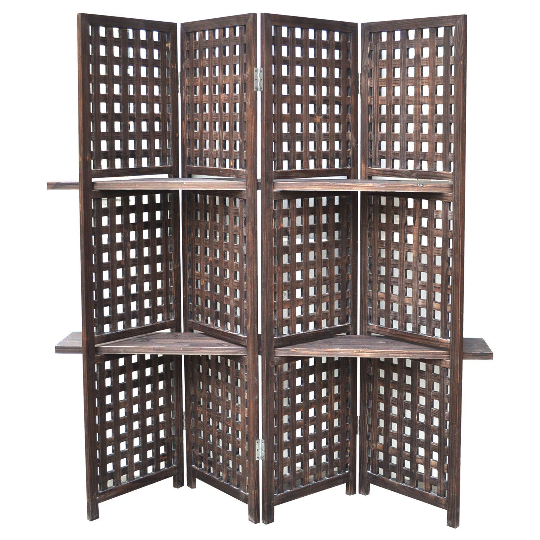 crestview collection cvfzr761 rustic lattice work room divider cvc