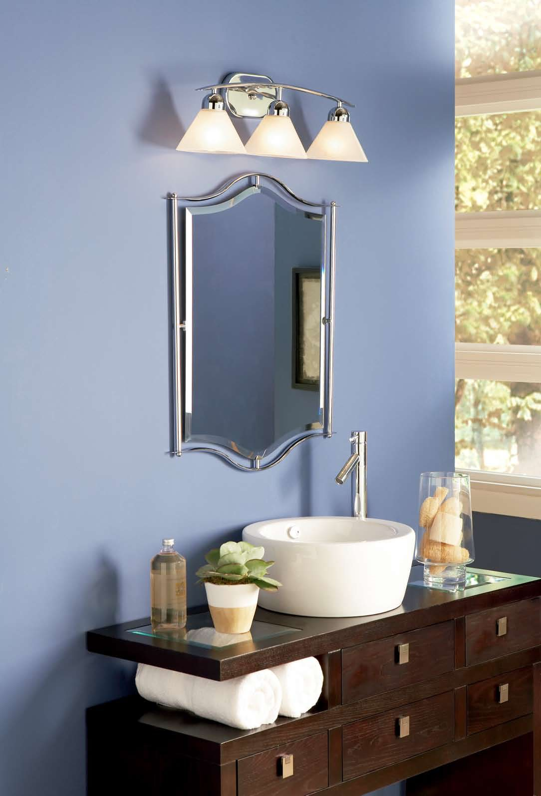 Quoizel di8503c demitri modern contemporary bathroom for Modern bathroom vanity light fixtures