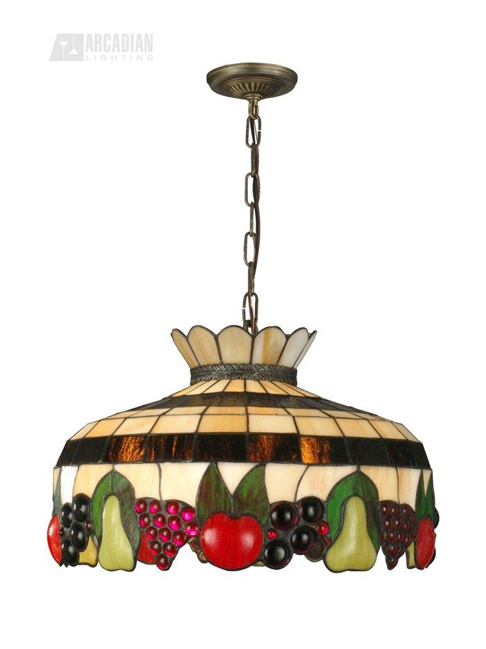 Dale Tiffany 3092 3lta Fruit 3 Light Tiffany Pendant Light