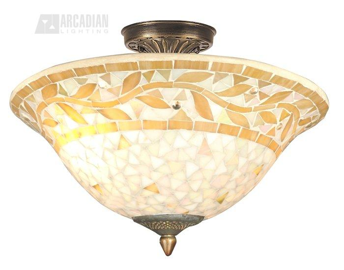 Dale Tiffany Th70656 Mosaic Traditional Semi Flush Mount