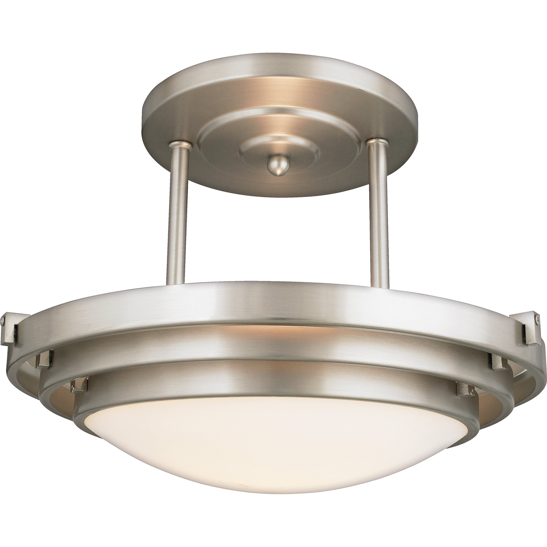 Quoizel el1284cb electra modern contemporary semi flush for Semi flush mount lighting modern