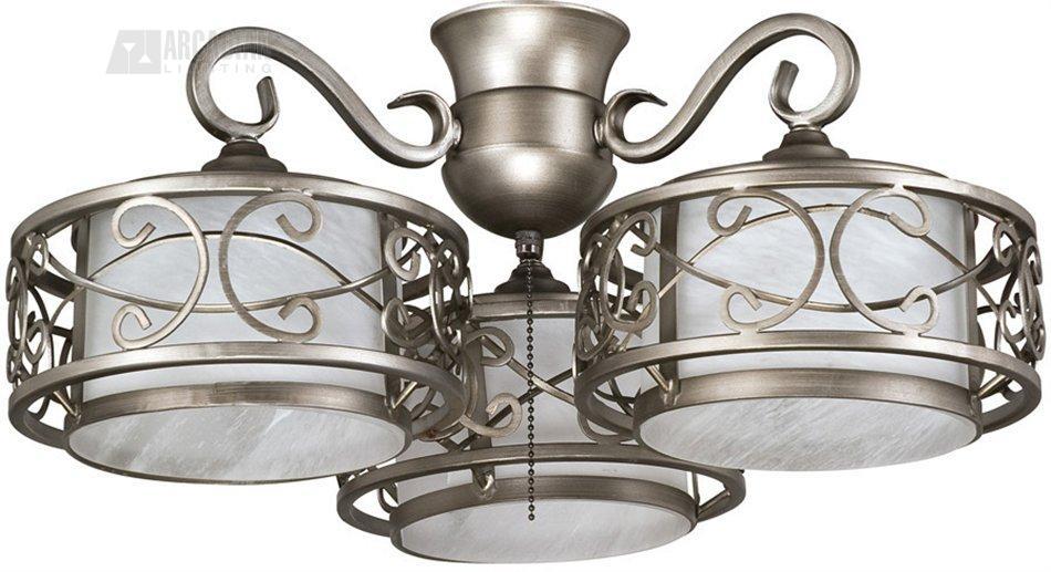 Craftmade eck 3 del rey transitional ceiling fan light kit el eck 3 ander antique nickel aloadofball Images