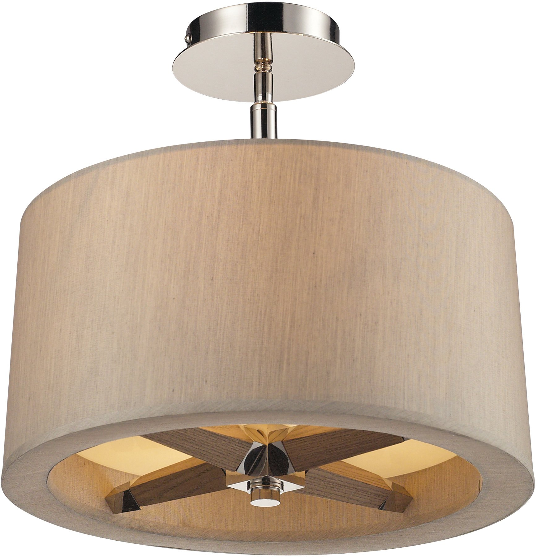 Elk Lighting Fans: Elk Lighting 31334/3 Jorgenson Transitional Semi Flush