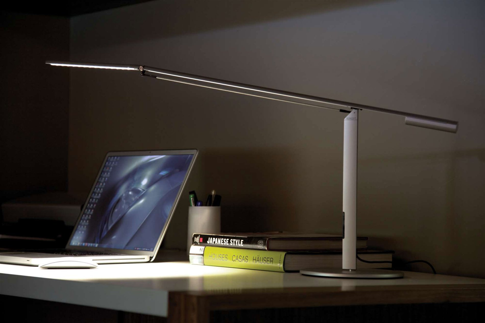 Koncept Lighting ELXA Equo LED Contemporary Desk Lamp KONELXADSK – Koncept Desk Lamp