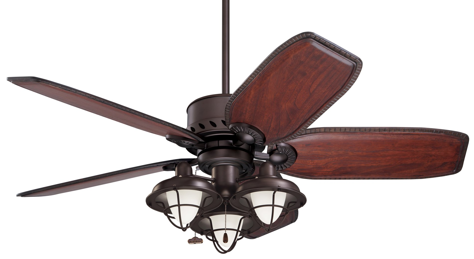 emerson boardwalk cage transitional ceiling fan light kit em lk40. Black Bedroom Furniture Sets. Home Design Ideas